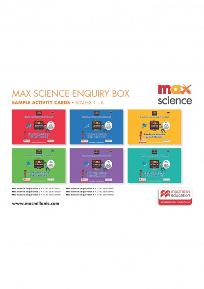 Max Science Enquiry Box: Sample Activity Cards